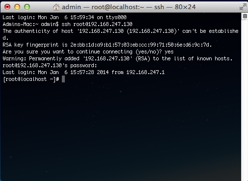 SSH/SFTP Connection to the Virtual Server - Powered by